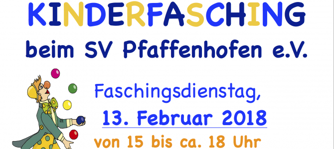Kinderfasching am Faschingsdienstag