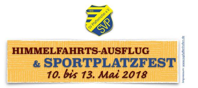 Sportplatzfest vom 10. bis 13. Mai 2018