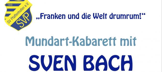 Kabarett: Sven Bach am 30. März 2019